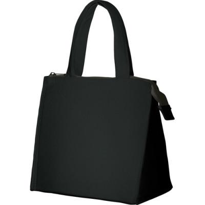 キャンバス保冷バッグ スクエアS ブラック シルク印刷